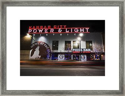 Power And Light Pizza Framed Print by Thomas Zimmerman
