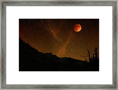 Power Blood Moon Framed Print