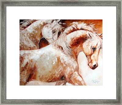 Power By Two Equine Original Framed Print by Marcia Baldwin