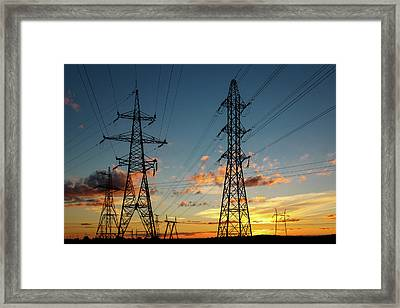 Power Cables Framed Print