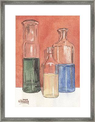 Power Failure Prescriptions Framed Print by Ken Powers