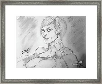 Power Girl Framed Print by Scott Davis