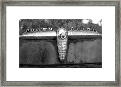 Power Glide Framed Print by Audrey Venute