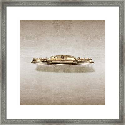 Power Glide Hood Emblem Framed Print