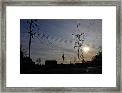 Power Grid Framed Print