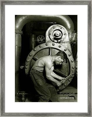Power House Mechanic Framed Print by Jon Neidert