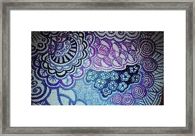 Power In Purple Framed Print by Joyce Webster