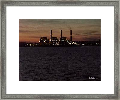 Framed Print featuring the photograph Power In The Dark by Betty Northcutt