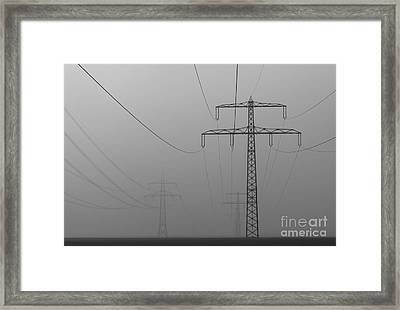 Power Line Framed Print