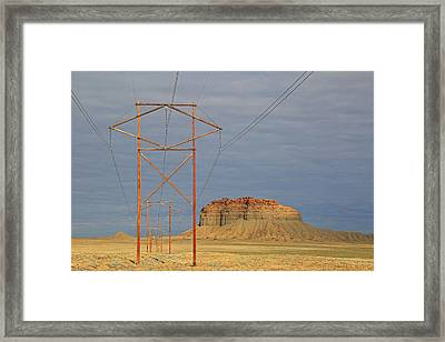 Power Lines Framed Print by Donna Kennedy