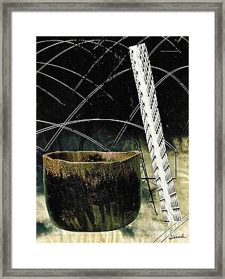 Power Lines Framed Print by Sarah Loft