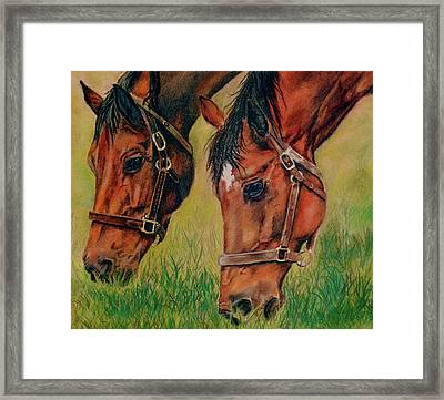 Power Lunch Framed Print by Crystal  Harris-Donnelly