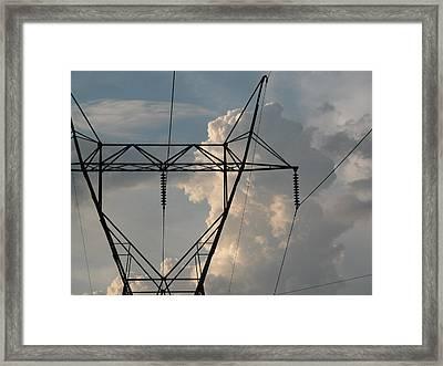 Power Framed Print by Michael Morrison
