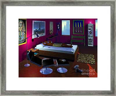 Power Napping Framed Print by Walter Oliver Neal