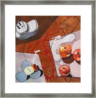 Power Of Electricity Framed Print by Evguenia Men