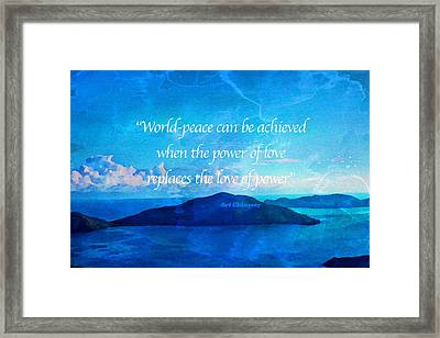 Framed Print featuring the painting Power Of Love by Joan Reese