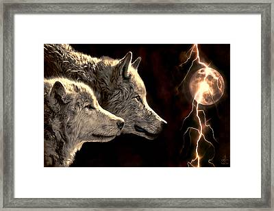 Power Of The Moon Framed Print by Pennie  McCracken