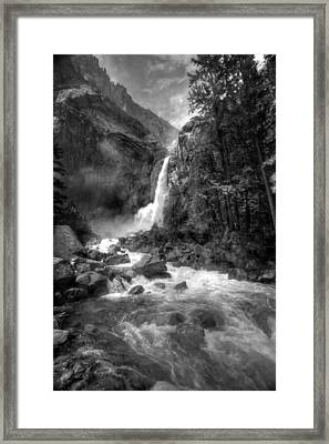 Power Of Water Framed Print by Edward Kreis
