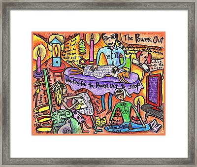 Power Out A Collaboration With Eva Miller Framed Print by Susan  Shie