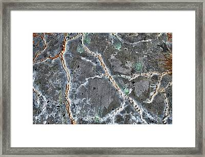 Power Plant Ceiling Abstract Framed Print by Cathy Mahnke