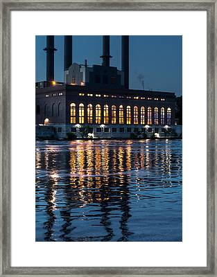 Power Plant On The Mississippi Framed Print by Jim Hughes