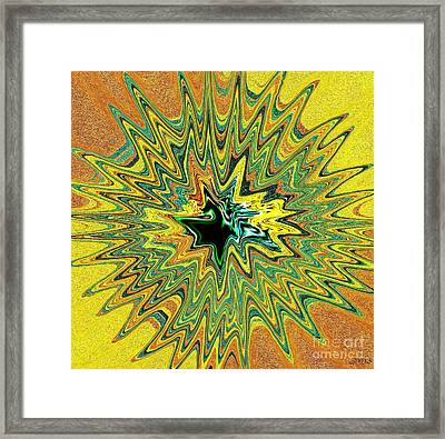 Power Star Abstract Framed Print