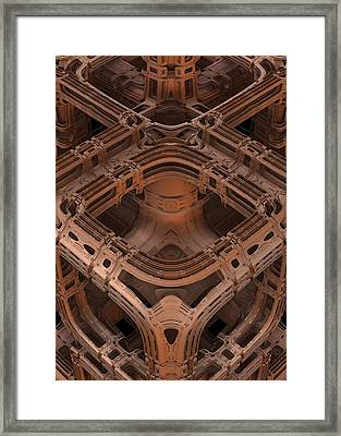 Framed Print featuring the digital art Power Station Epsilon by Lyle Hatch