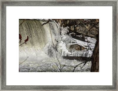 Power Station Falls On Black River  Framed Print