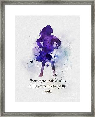 Power To Change The World Framed Print by Rebecca Jenkins