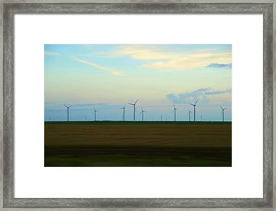 Power Train Framed Print by Max Mullins