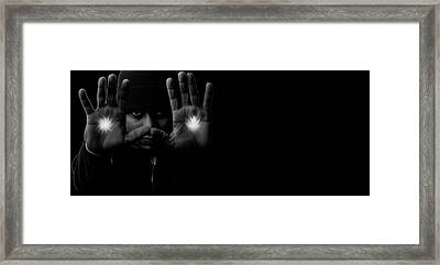 Power Framed Print by Venura Herath