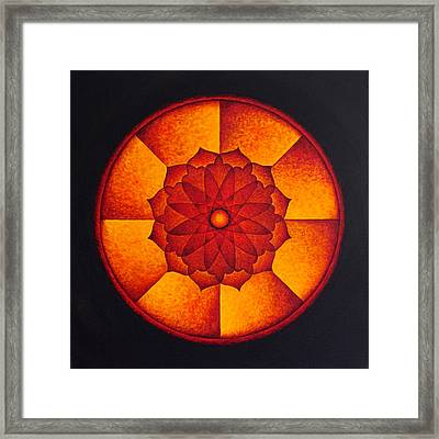 Power Wheel Framed Print