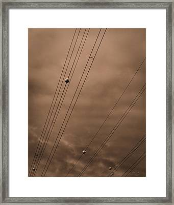 Power Wires Framed Print