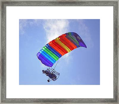 Powered Parasailing 1 Framed Print by Kenneth Albin