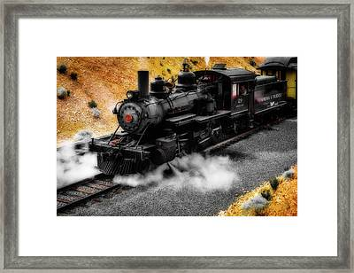 Powerful 29 Virgina And Trukee Steam Train Framed Print