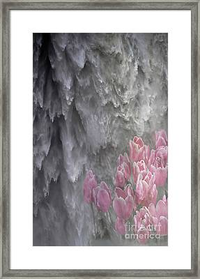 Powerful And Gentle Waterfall Art  Framed Print by Valerie Garner