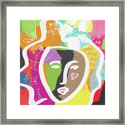 Powerful Girl- Art By Linda Woods Framed Print by Linda Woods