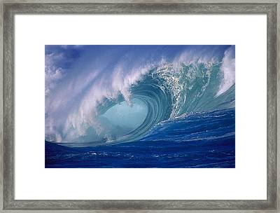 Powerful Surf Framed Print by Ron Dahlquist - Printscapes