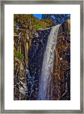 Powerful Bridalveil  Falls Framed Print by Garry Gay