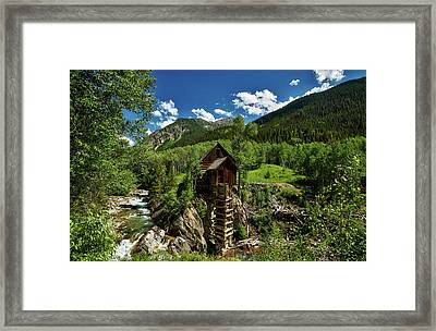 Powerhouse Above The Crystal River Framed Print