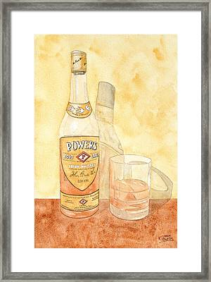 Powers Irish Whiskey Framed Print by Ken Powers
