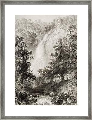 Powerscourt Fall, County Wicklow Framed Print