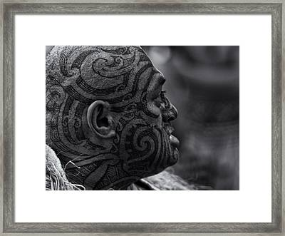 Powhiri - Welcome No1 Framed Print by Dennis William Gaylor