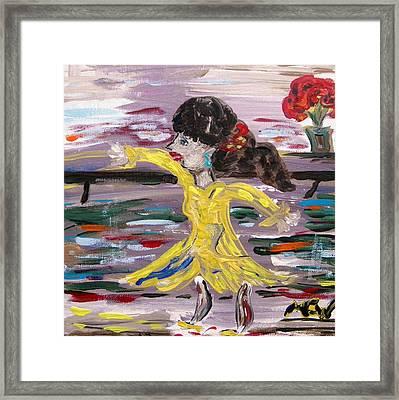 Practice Modern Dance Framed Print by Mary Carol Williams