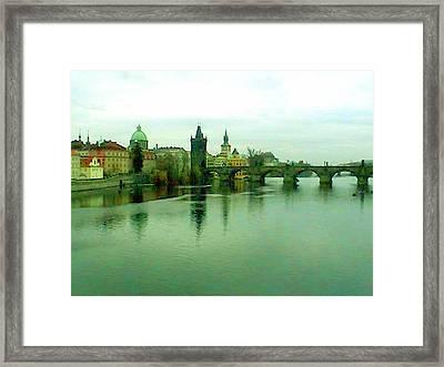 Prague  1 Jgibney 2000 City Bridge 2010 Framed Print by  jGibney