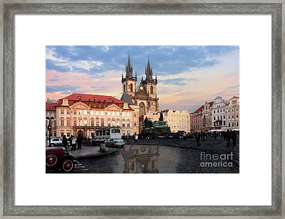 Prague After The Rain Framed Print by Pat Dego