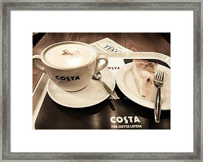 Prague Airport Costa Framed Print