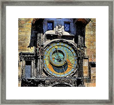 Prague Astronomical Clock 2 Framed Print by C H Apperson