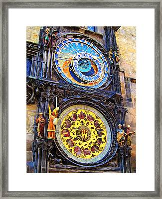 Prague Astronomical Clock Framed Print by Andreas Thust