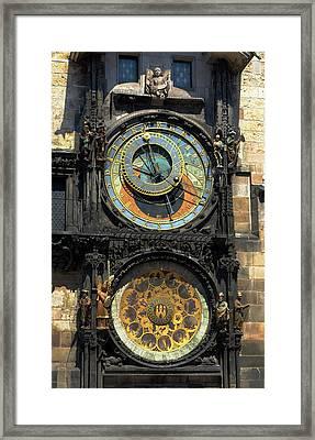 Prague Astronomical Clock Framed Print by C H Apperson